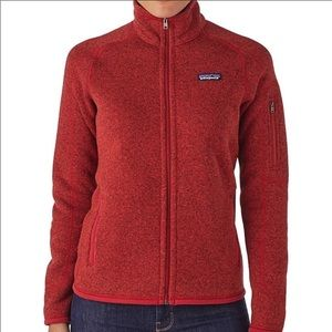 Patagonia Full Zip Better Sweater Red Fleece